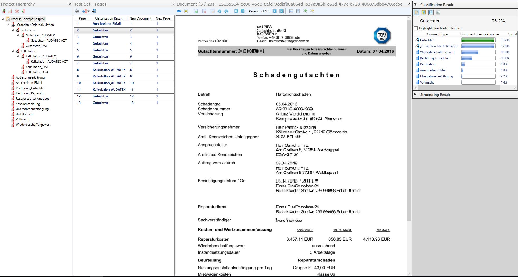 Page Classification Car Insurance Claim - Laera Classifier